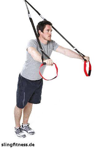 sling-training_Arme_Trizeps vor der Brust mit tiefen Ellenbogen_1