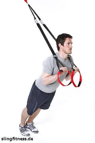 sling-training Arme Trizeps vor der Brust mit tiefen Ellenbogen 2