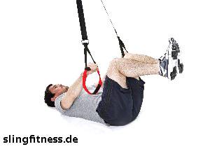 sling-training_Bauch_Assisted Crunch mit angehobenen Beinen_1
