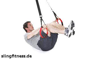 sling-training_Bauch_Assisted Crunch mit angehobenen Beinen_2