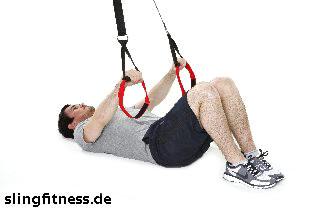 sling-training_Bauch_Assisted Crunch mit aufgesetzten Beinen_1