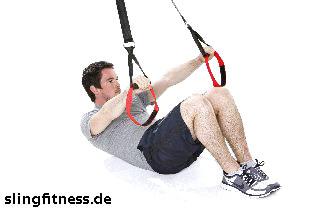 sling-training_Bauch_Assisted Crunch mit aufgesetzten Beinen_2