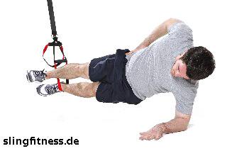 sling-training_Bauch_Sidestaby einbeinig, oberes Bein strecken_1