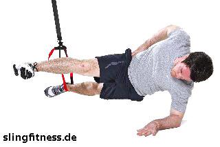sling-training_Bauch_Sidestaby einbeinig, oberes Bein strecken_2
