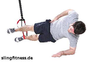 sling-training_Bauch_Sidestaby einbeinig, oberes Knie anziehen_1