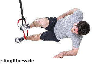 sling-training_Bauch_Sidestaby einbeinig, oberes Knie anziehen_2