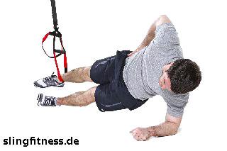 sling-training_Bauch_Sidestaby einbeinig, unteres Knie anziehen_1