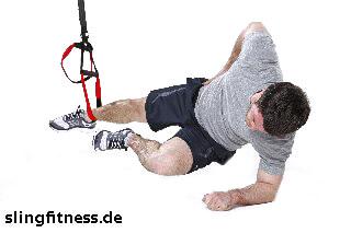 sling-training_Bauch_Sidestaby einbeinig, unteres Knie anziehen_2