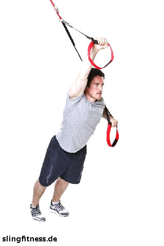 sling-training_Bauch_Standing Roll Out ein Arm gebeugt_2