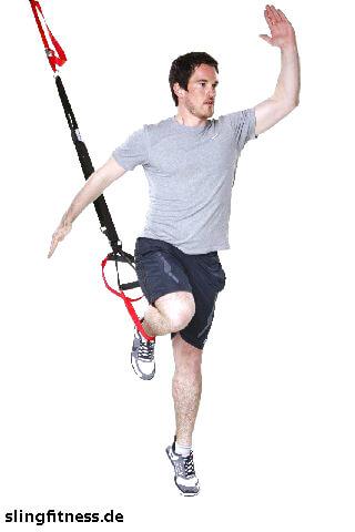 sling-training Ganzkörper Lunge mit Sprung und Pushup 2