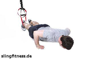 sling-training Ganzkörper Lunge mit Sprung und Pushup 3